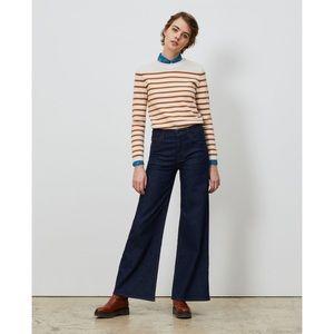 Comptoir des Cotonniers wide leg dark wash jeans